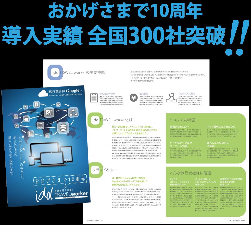 おかげさまで10周年 導入実績全国300社突破!!